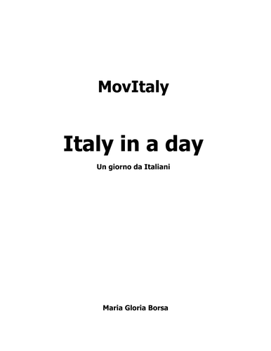 MovieItaly: Italy in a Day