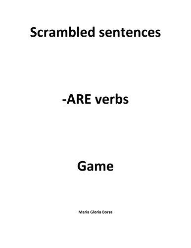 Game: Scrambled -ARE verbs in Italian