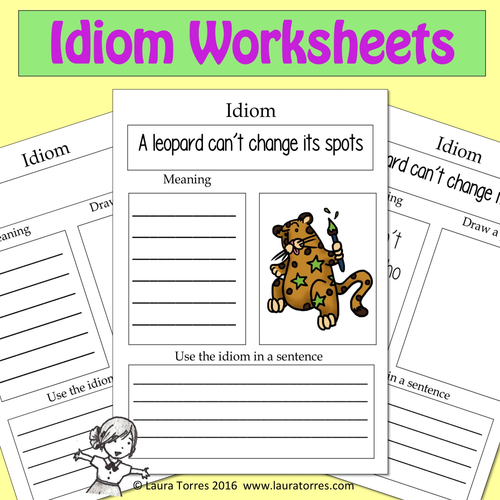 Idiom Worksheets by LauraTorresELA Teaching Resources Tes – Idiom Worksheets