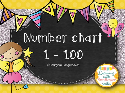 100 Number Chart Fairy Theme