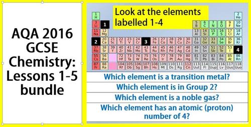 AQA GCSE  chemistry lessons 1-5