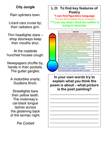 Volcano Poem Planning lesson
