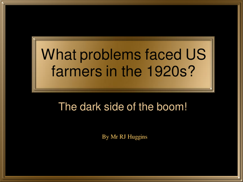 Why did US farmers not share in the prosperity of the 1920s?
