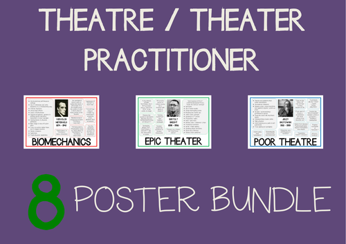 Theater / Theatre Practitioner Drama Poster 8 BUNDLE