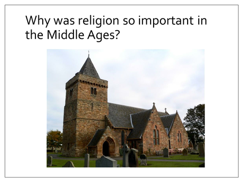 Why was religion important in the Middle Ages?