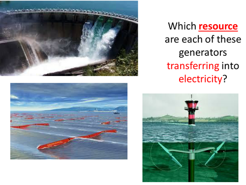 New AQA GCSE Physics Energy Lesson 17 Hydroelectric Waves and Tides
