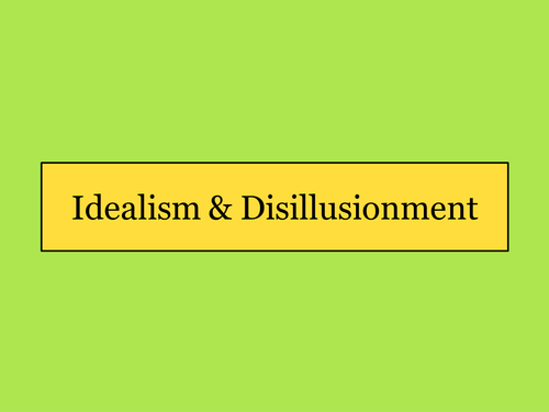 the great gatsby disillusionment essay