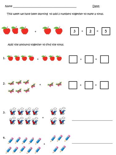 Addition homework
