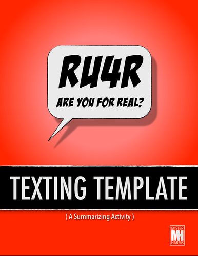texting template summary analysis for any history or english class