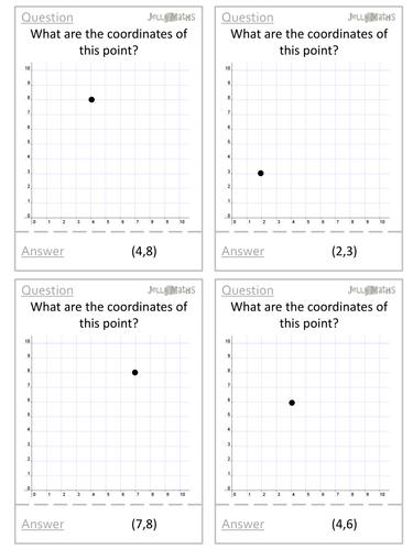 Coordinates Quiz Quiz Trade Cards