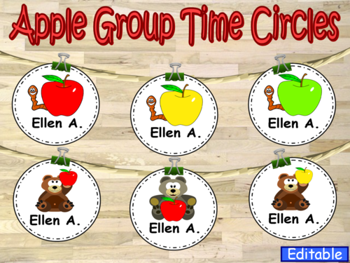 Apple Group Time Circles