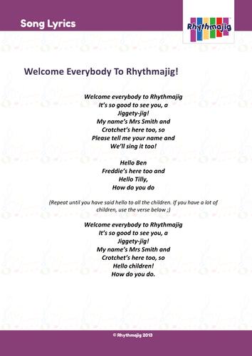 Welcome everybody to Rhythmajig! Song, backing track and lyrics