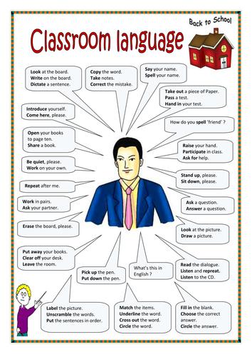 Classroom language, classroom rules.
