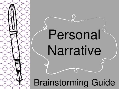 Personal Narrative Brainstorming Activity