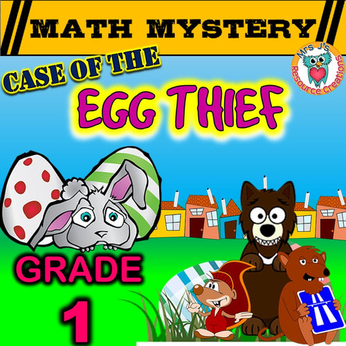 Easter Math Mystery (GRADE 1)