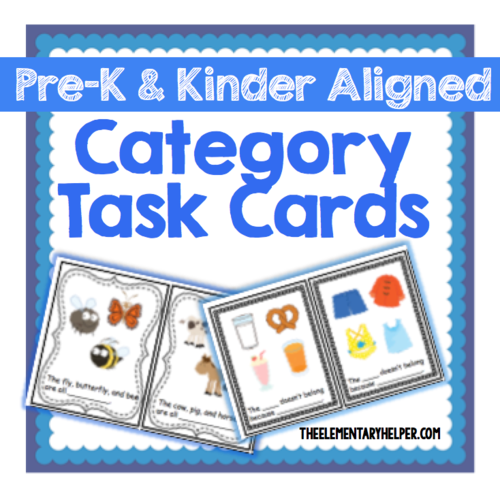 Category Task Cards For Preschool And Kindergarten By