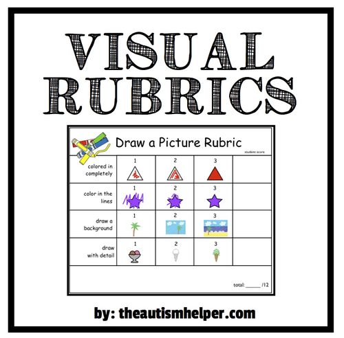 visual rubrics for special education by theautismhelper teaching