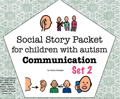 Visual Social Story Packet For Children With Autism Communication Set 2 Teaching Resources