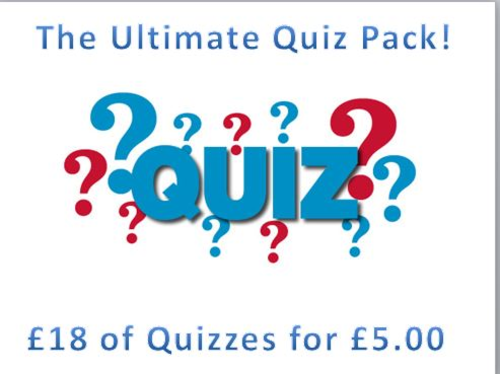 Ultimate Quiz Bundle Pack - ideal for starters, form time etc