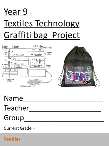 Year 9 (GSCE Textiles) Graffiti Sports bag