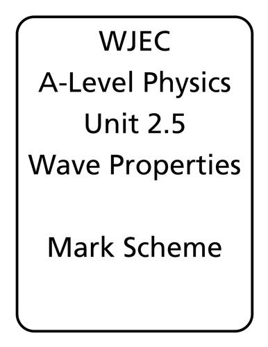 WJEC A Level Physics unit 2.5 - Wave Properties