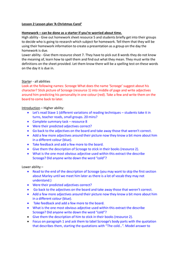 scrooge a christmas carol gcse stave and model essay by  lesson 2 in a christmas carol sol introduction to scrooge