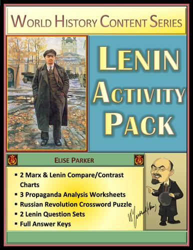 Lenin Activity Pack: Charts, Propaganda Worksheets, Question Sets, Puzzle!