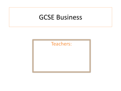 Powerpoint to use at options evening or assembly - Why pick GCSE Business