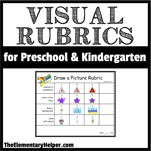 Visual rubrics for preschool and kindergarten by theelementaryhelper visual rubrics for preschool and kindergarten by theelementaryhelper teaching resources tes ccuart Choice Image