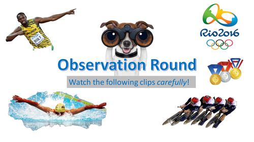 The Oylmpics Observation Quiz! Ideal for Form Time