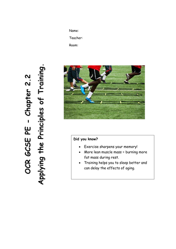 Applying the Principles of Training - Chapter 2.2 OCR GCSE PE (2016 Spec) REVISION RESOURCE