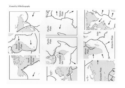 Plate tectonics jig saw
