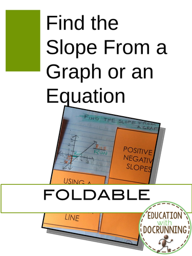 Rate of Change from a Graph and an Equation: Notes and Practice on slope (8.EE.B.6.)