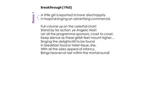 Bruce Dawe 'Breakthrough' (1965) Annotated