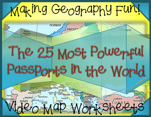 Fun Geography Activities: Geography Video Worksheets