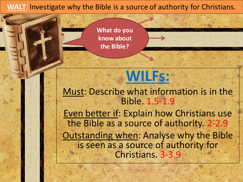 The Bible as a Source of Authority in Christianity