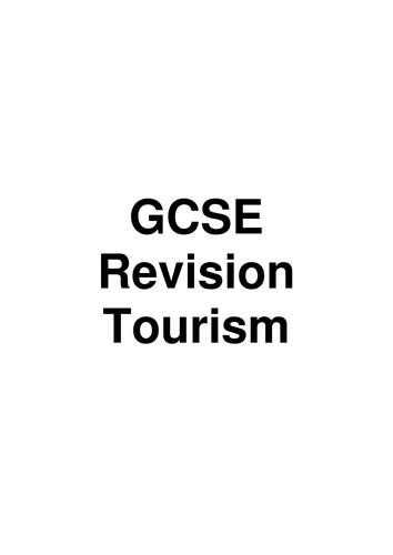 GCSE Revision Tourism Booklet