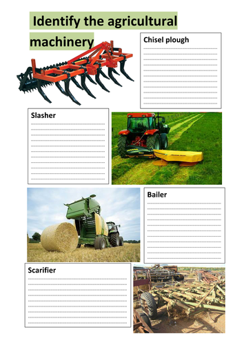 Identify the agricultural machinery
