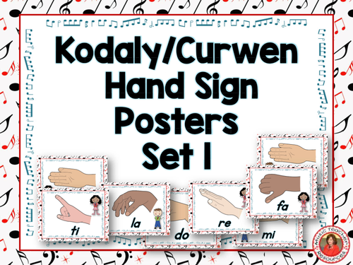 Classroom Decor Set Free ~ Music classroom decor set kodaly curwen hand sign posters