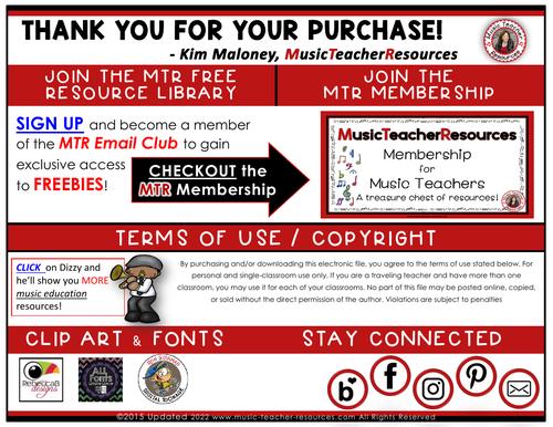 Music Classroom Decor Set: Kodaly/Curwen Hand Sign Posters Set 1