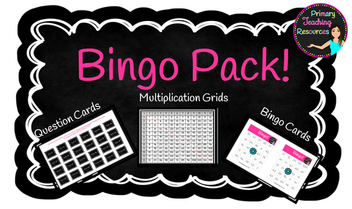 Multiplication Bingo Pack up to 12 x 12 times tables