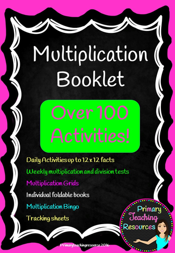 12 x 12 Times tables bumper bundle pack includes activities, assessments, bingo and much more!