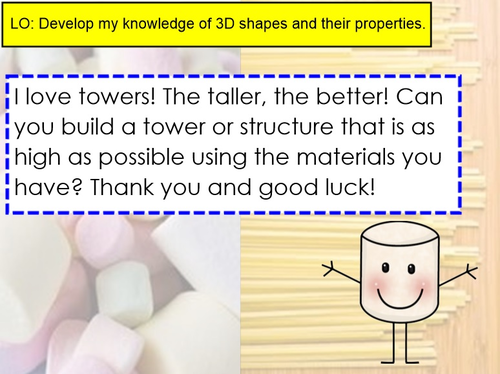 Micky The Marshmallow Spaghetti Tower Challenge Maths Investigation