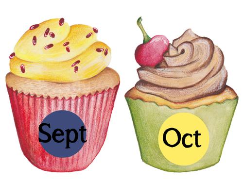 Class Birthdays Cupcake Display