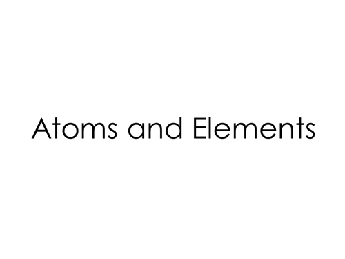 AQA C1: Atomic structure and periodic table Sept 2016