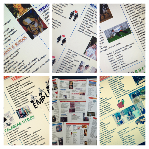 NEW GCSE Spanish literacy mats and marksheets (BUNDLE)