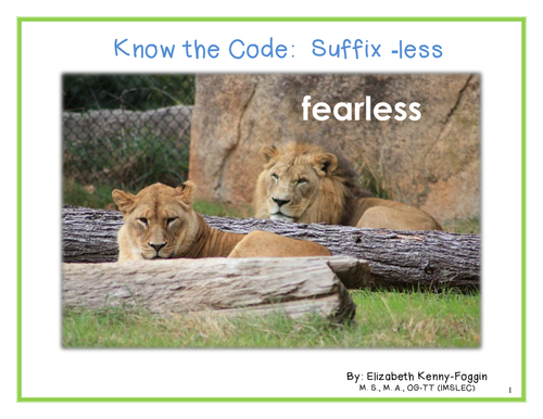 Know the Code: Suffix -less