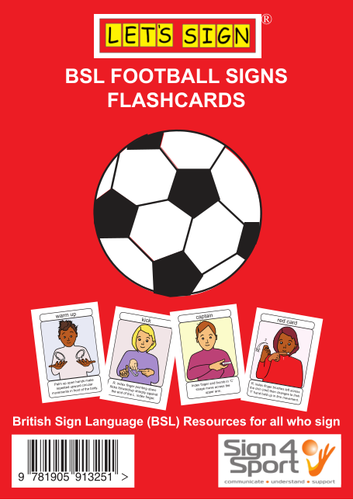 BSL Football Signs Flashcards (Let's Sign BSL)