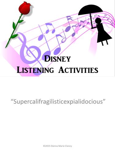 Disney Listening Activity: Supercalifragilisticexpialidocious...FREEBIE