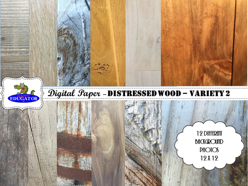 Distressed Wood - Rustic Wood Backgrounds for Shabby Chic - Variety 2